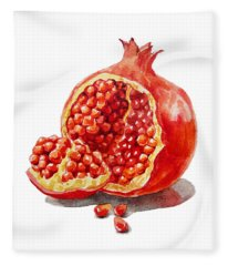 Artz Vitamins A Pomegranate  Fleece Blanket