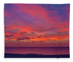 Aruba Sunset Fleece Blanket