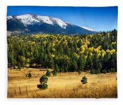 As Fall Arrives In Arizona  Fleece Blanket