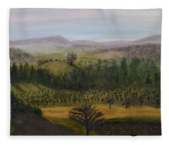 Asheville View Fleece Blanket