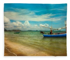Asian Beach Fleece Blanket