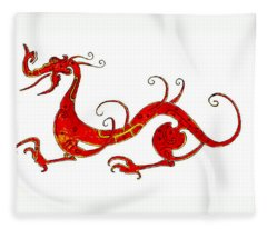 Asian Dragon Fleece Blanket