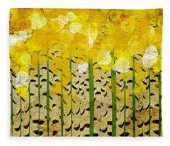 Aspen Colorado Abstract Panorama Fleece Blanket