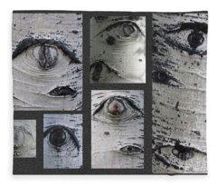 Aspen Eyes Are Watching You Fleece Blanket