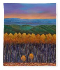 Aspen Perspective Fleece Blanket