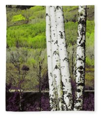 Aspens 4 Fleece Blanket