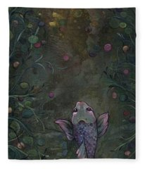 Aspiration Of The Koi Fleece Blanket