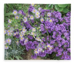 Asters Light And Dark Fleece Blanket