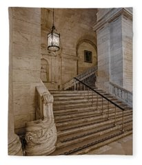 Astor Hall Nypl Fleece Blanket