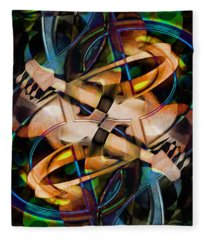 Asturias In G Minor Abstract Fleece Blanket