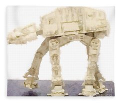 At-at All Terrain Armored Transport Fleece Blanket