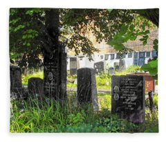 At Rest - Novodevichy Cemetery - Russia Fleece Blanket