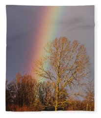 At The End Of The Rainbow Fleece Blanket