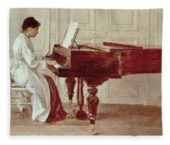 At The Piano Fleece Blanket
