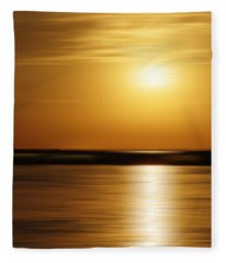Atlantic Harbor Morning Fleece Blanket