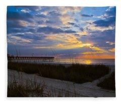 Atlantic Sunrise In March Fleece Blanket