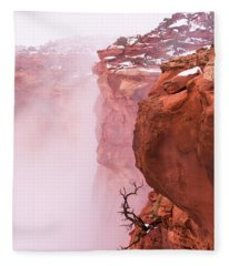 Atop Canyonlands Fleece Blanket