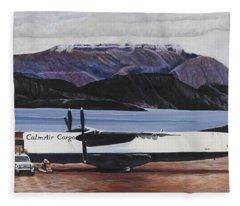 Atr 72 - Arctic Bay Fleece Blanket