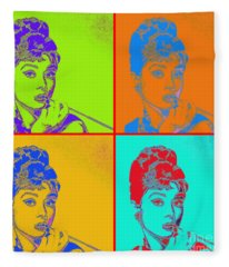 Audrey Hepburn 20130330v2 Four Fleece Blanket