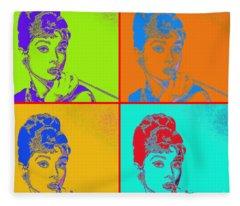 Audrey Hepburn 20130330v2 Four Fleece Blanket