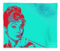 Audrey Hepburn 20130330v2p128 Fleece Blanket