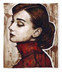 Audrey Hepburn Fleece Blankets