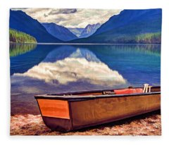 August Afternoon At The Lake Fleece Blanket