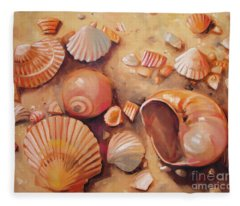 August Shells Fleece Blanket