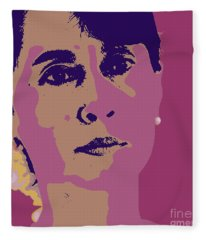 Aung San Suu Kyi Fleece Blanket