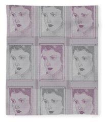 Aunt Edie Print Fleece Blanket