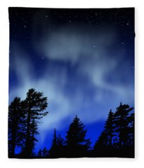 Aurora Borealis Wall Mural Fleece Blanket