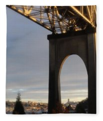 Aurora Bridge Seattle Washington  Fleece Blanket