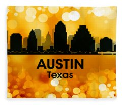 Austin Tx 3 Fleece Blanket