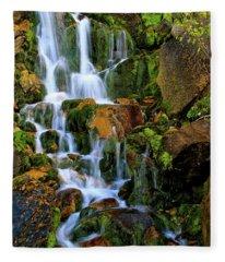 Autumn Along Summit Creek Fleece Blanket