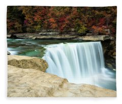 Autumn At Cumberland Falls Fleece Blanket
