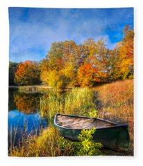 Autumn Canoe Fleece Blanket