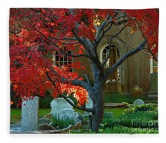 Autumn Charleston Churchyard Fleece Blanket