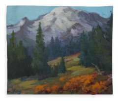 Autumn Color At Mount Rainier Fleece Blanket