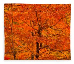 Autumn Color Splash Fleece Blanket