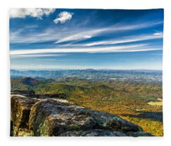 Autumn Colors In The Blue Ridge Mountains Fleece Blanket