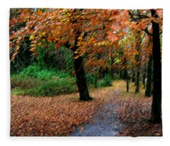 Autumn Entrance To Muckross House Killarney Fleece Blanket