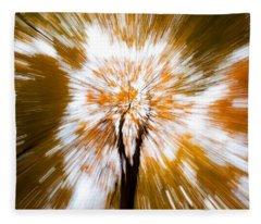 Autumn Explosion Fleece Blanket