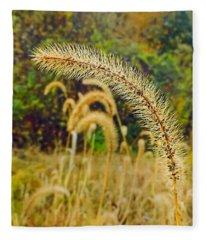 Autumn Grass Fleece Blanket