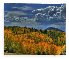Autumn In Colorado Fleece Blanket