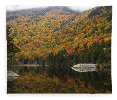 Autumn In Kinsman Notch Fleece Blanket