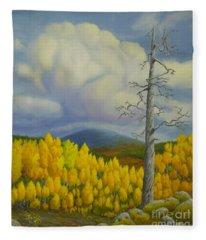 Autumn In Lapland Fleece Blanket