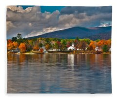 Autumn In Melvin Village Fleece Blanket