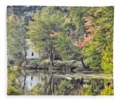 Autumn In Pastel Fleece Blanket