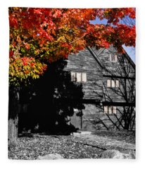 Autumn In Salem Fleece Blanket