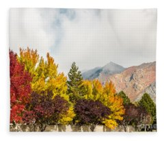 Autumn In The City Fleece Blanket
